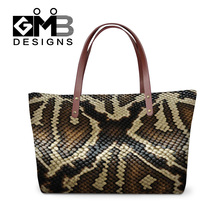Dispalang personalized snake skin printed handbags women shopping totes bags ladies travel bag girls casual tote eveing hand bag