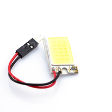 Best Price T10 16 LED COB Chip White Car Auto Light Panel Interior Reading Map Lamp Bulb BA9S Festoon Dome 3 Adapters DC12V