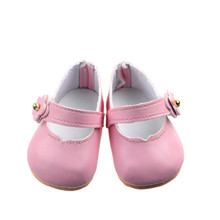 New Fashion Pink Leather shoes Wear fit 43cm Baby Born zapf, Children best Birthday Gift b681