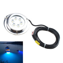 KSOL 6*2w Blue Stainless Steel IP68 Waterproof LED Marine Underwater Light Boat Yacht light(China)