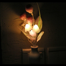 Photo Sensor LED Night Light Flower Plant Potted Baby Bedside Night Light for home Decoration(China)