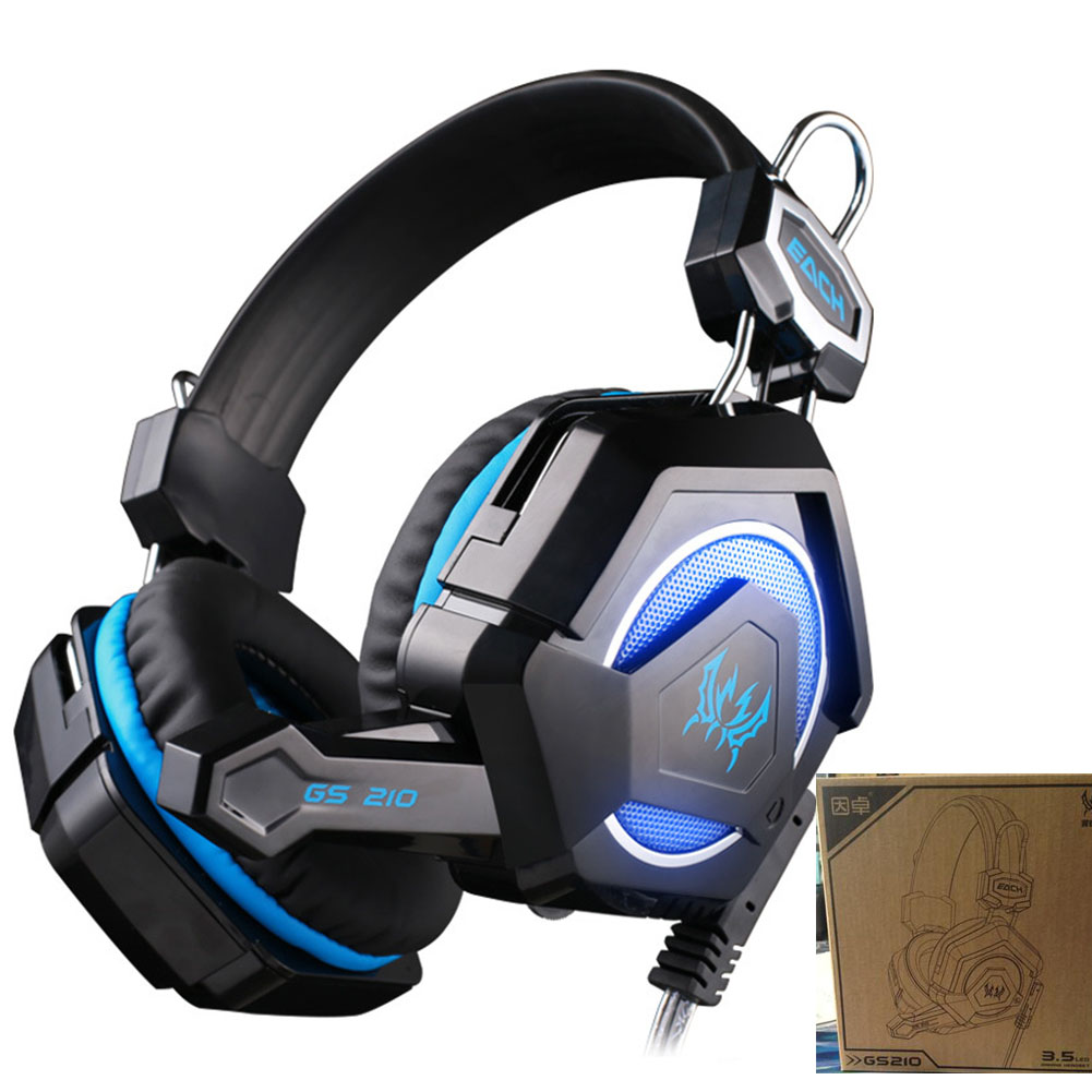 Each GS210 Headband Gaming Headphones Microphone Colorful Breathing LED Light Headset for PC Laptop Notebook Compute Fone Gamer<br><br>Aliexpress