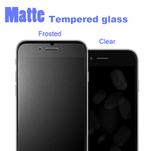 Frosted Tempered Glass Screen Protector For iPhone 7 6 6s plus Finger print Matte Screen protection film For iphone 5 5S 5SE