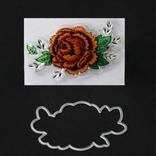 colorful rubber stamp and cutting dies set flower stamp die in embossing stencil for scrapbooking card making decoration(China)