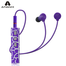 Aniwk Crack Bluetooth 4.2 headset Stereo Wireless Sport Magnetic earphone support control camera with Microphone