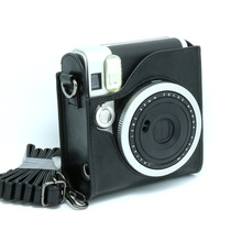 Fujifilm Instax Mini 90 Camera Leather Case Bag Black Color with Shoulder Strap(Hong Kong)