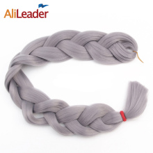 "AliLeader Crotchet Braids Pure Color White Blonde Orange Beige Pink Braiding Hair, 100 Kanekalon Synthetic Hair Weave 82"" 165G(China)"
