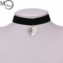 MISS FASHION European And American Style Wide Heart Black Pendant Chokers Necklaces Popular Accessories Girl Cool Collar Jewelry