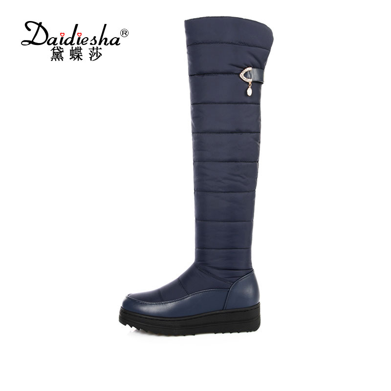 Daidiesha New arrival Russia keep warm snow boots Zipper platform fur over the knee boots warm winter boots for women shoes<br>
