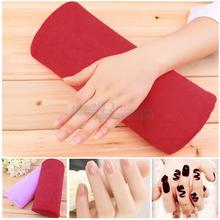 1pc New Soft red Nail Art Hand Holder Cushion Pillow Nail Arm Rest Manicure Tools Comfortable Pratical Nail Art Equipment(China)