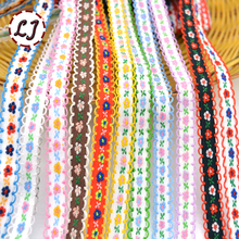 5yd/lot fashion Bohemia Pastoral style handmade embroidered flower lace tape trim ribbon decoration sewing craft accessories DIY