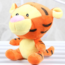 New 1pcs 18cm Cute Cartoon Tigger Tiger Plush Toy Soft Stuffed Animal Dolls Baby Kids Toy Children Birthday / Christmas Gift