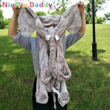 Niuniu Daddy 60cm Elephant Plush Toy Skin Giant Elephant Dolls Animal Skin Soft Pillows Baby Sleeping Pillow birthday Gift
