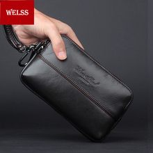 HOT Sale 2016 new arrivel men's hand bags genuine leather waist bags fashion casual cell phone bags mini(China)