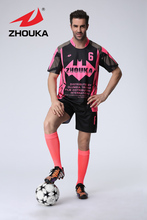 HOT! 2016 Newest top Thai quality sublimated printing Men's football uniform custom soccer jersey