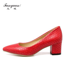 Fanyuan 2018 Sexy High Heel Ladies' Simple Shoes Classic Pointed Toe Women Office Party Shoes Sexy Fish Scale Women Stilettos(China)