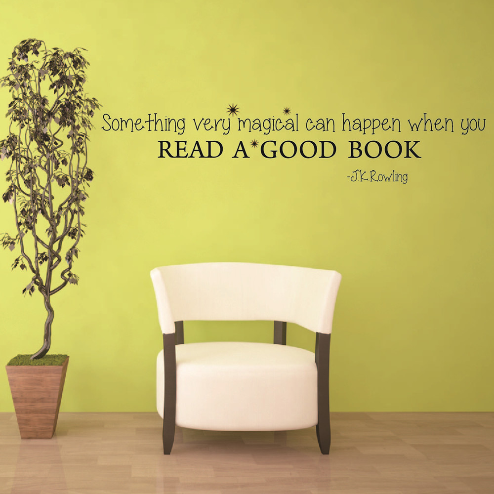 J.K.Rowling Reading Motivational Quotes Wall Stickers Inspired ...
