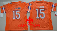 2017  BAICLOTHING Florida Gators Tim Tebow 15 College Basketball Jerseys - Orange Size S,M,L,XL