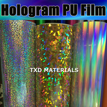 Hologram pu vinyl for cutter plotter 50CMX100CM High quality Hologram PU VINYL for fabric heat transfer with air free shipping