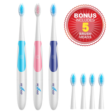 Seago Adult Sonic Electric Toothbrush Waterproof Deep Clean Teeth Whitening Non-Rechargeable Teeth Brush 3 Colors sg-906