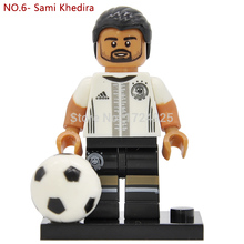 Germany National Football team NO.6 Sami Khedira Figure retail Building Blocks set model Bricks Toys Action Figure