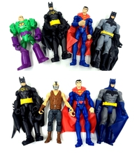 4pcs/lot 15cm Random send original anime figure the avenger superman/Batman action figure set best kids toys for boys