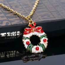 Women Girls Fashion Jewelry Lovely Bowknot Garland  Pendant Necklace Chain Christmas Gift
