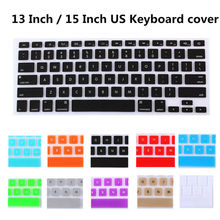 Silicone US Version Keyboard Cover Skin For Apple MacBook Air 13 Pro 13 15 inch with Retina Keyboard film Only English