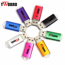 TWOBRO Multicolor USB Flash Drive 2.0 16GB 8GB 4GB 2GB U Disk Keychain Pen Drive 32GB 64GB Memory Stick 128MB Pendrive For PC