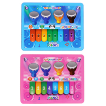 Baby Kids Toy Musical Instrument Gift Kids Child Touch Screen Key Type Piano Drum Developmental Music Tablet Game Toy(China)