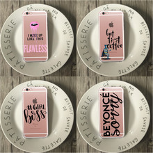 But First Coffee Girl Boss flawless beyonce Clear Soft TPU Phone Case For iPhone 6 6S 6Plus 5 5s SE 7 7Plus 8 8Plus X 10 Cover(China)