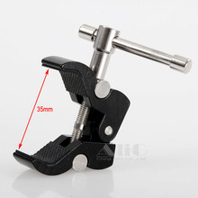 Video camera clamp (S) 1/4 3/8 screw hole for flash light stand / led light / magic arm / lcd Monitor camcorder accessories