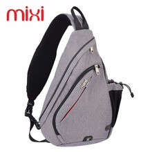 Mixi 17'' 19'' Sports Hiking Running Camping Bag 8, 9L Capacity Black,Gray,Blue Outdoor Chest Bag Sling Bag with Single Strap