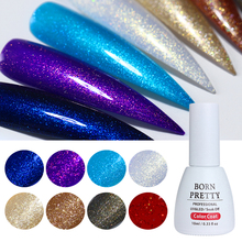 BORN PRETTY 10ml Nail Glitter Holographic Gel Colorful Soak Off Manicure UV Gel Vainish Nail Art Decoration(China)