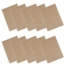 10pcs Hessian Burlap Coasters Table Mats Place Mats Rustic Wedding Table Decoration (Brown)