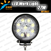 Wholesale price high intensity 4X4 Off road vehicle driving light DC12V 24V Epistar LED work light 27W round led working lamp