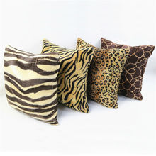 Fashion Customizable Two-Sided Soft Animal Print Short Plush Decorative Throw Pillow Cushion Home Decor Wholesale(China)