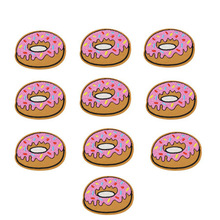10 pcs Donuts patches badges for clothing iron embroidered patch applique iron sew on Diy patches sewing accessories for clothes