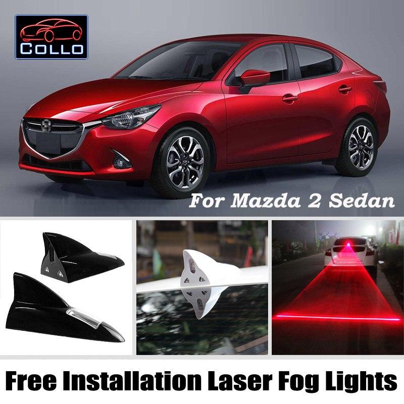 Free Installation For Mazda 2 Mazda2 Demio sedan / Solar Energy Shark Fin Laser Fog Light / Warning Lamp / Car Decoration<br><br>Aliexpress