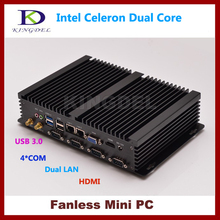 Mini pc Thin client terminal Intel Celeron 1037U Dual core CPU 4GB RAM 320GB HDD ,2*1000M LAN,4*COM, 2*USB 3.0, 300M WiFi,HDMI