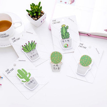 4pcs/lot Fresh cactus memo pad Cute deco Post It note Sticky Notepads Stationery office School supplies GT363