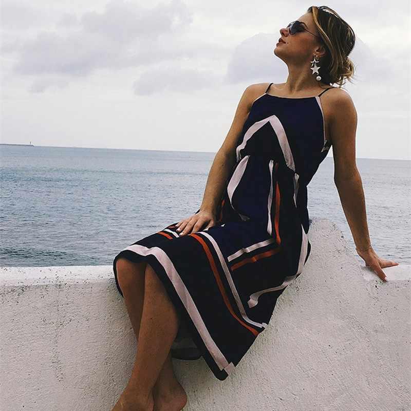 dc3c792eac4 loose long dresses plus size clothes casual off shoulder striped dress  oversized tunic beach boho sundress