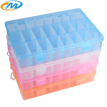 24 grid Detachable small Plastic box storage PP jewelry Earring box fishing gear hook box accessories components packaging box