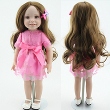 American 18 Inches Girl Doll Prices Toy For Children Realistic Hobbies Gentle Touch Vinyl Princess Doll Toys Girl Newest Design