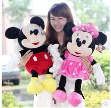 about 70 cm Mickey and  Minnie plush toy a pair lovers mouse dolls , Christmas gift b4339