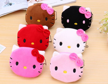 Super Kawaii Hello Kitty 3Colors For Choice - 10CM Plush Cotton Coin Purse BAG ; Coin Wallet Pouch ; Key Wallet Hand BAG