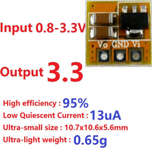 Low Quiescent Current 1.5V 1.8V 3V to 3.3V Boost DC DC Converter Board for ESP8266 nrf24l01 LCD LED RF Wifi Bluetooth Module