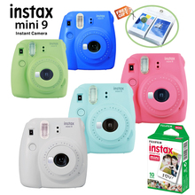 New 5 Colors Fujifilm Instax Mini 9 Instant Photo Camera + 10 pcs Fuji Instax Mini 8 White Film + Free Wall Album& Close up Lens(Hong Kong)