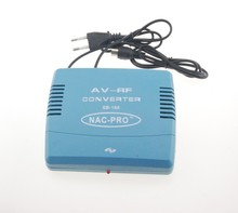 Standard 220V EU Plug PAL TV Signal Audio Video Signal Converter AV To RF Modulator Transponder