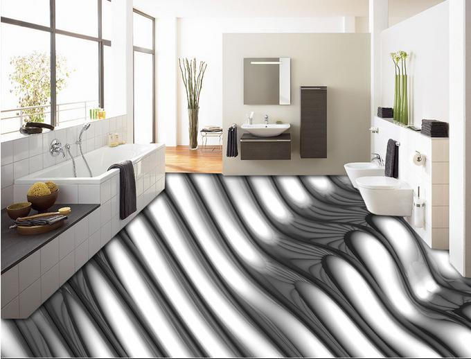 customs photo wallpaper 3d flooring pvc mural Metal lines wallpaper 3d floor wallpaper 3d wallpaper living room<br><br>Aliexpress
